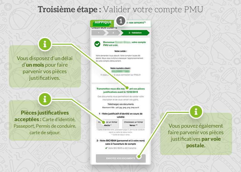 Validation de l'inscription PMU
